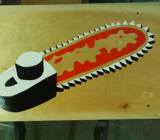 Chainsaw painted…
