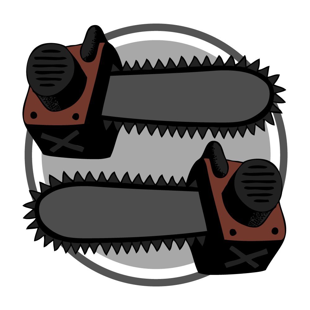2-chainsaws