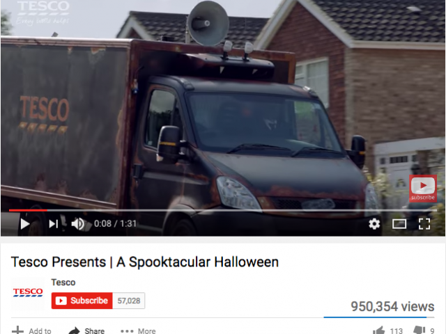 "Tesco ""Spooktacular"" van"