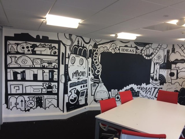 Glide – Meeting room mural.